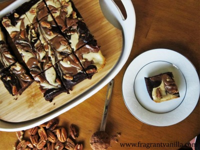 vegan-caramel-pecan-cheesecake-brownies-2