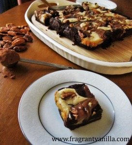 vegan-caramel-pecan-cheesecake-brownies