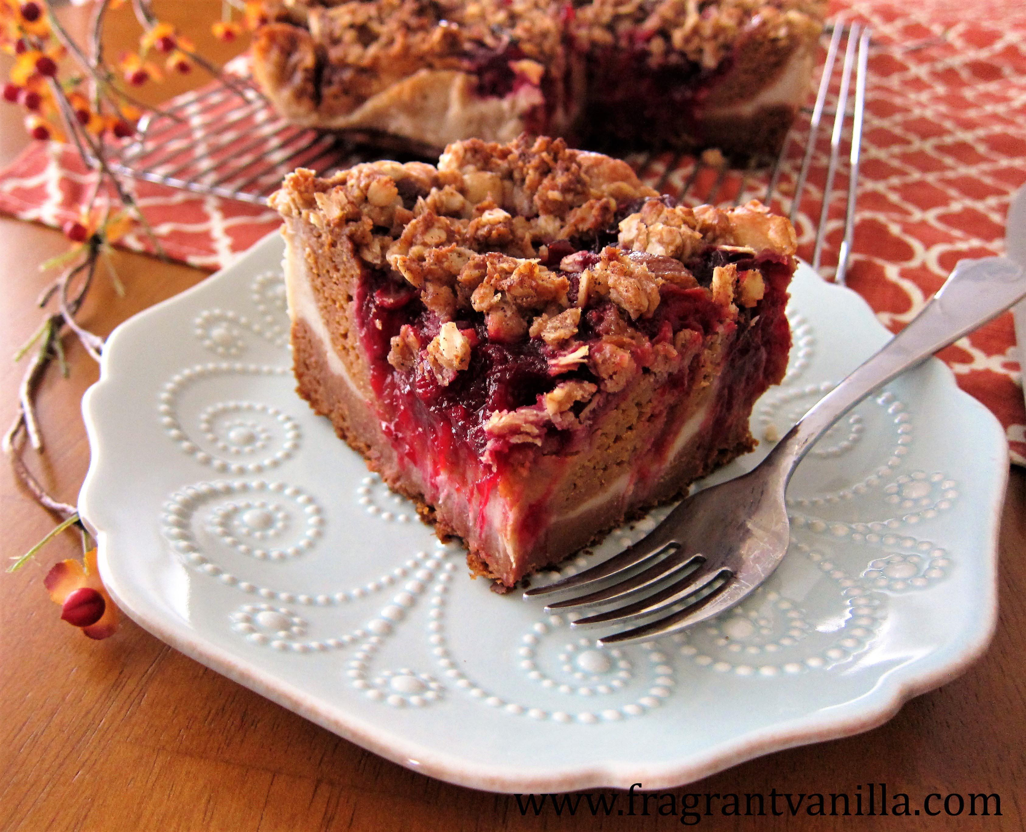 VeganSweet Potato Cranberry Coffeecake