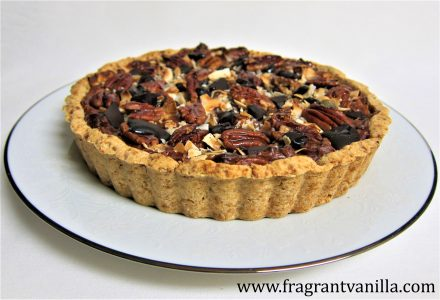 pecan-coconut-chocolate-chunk-tart-5