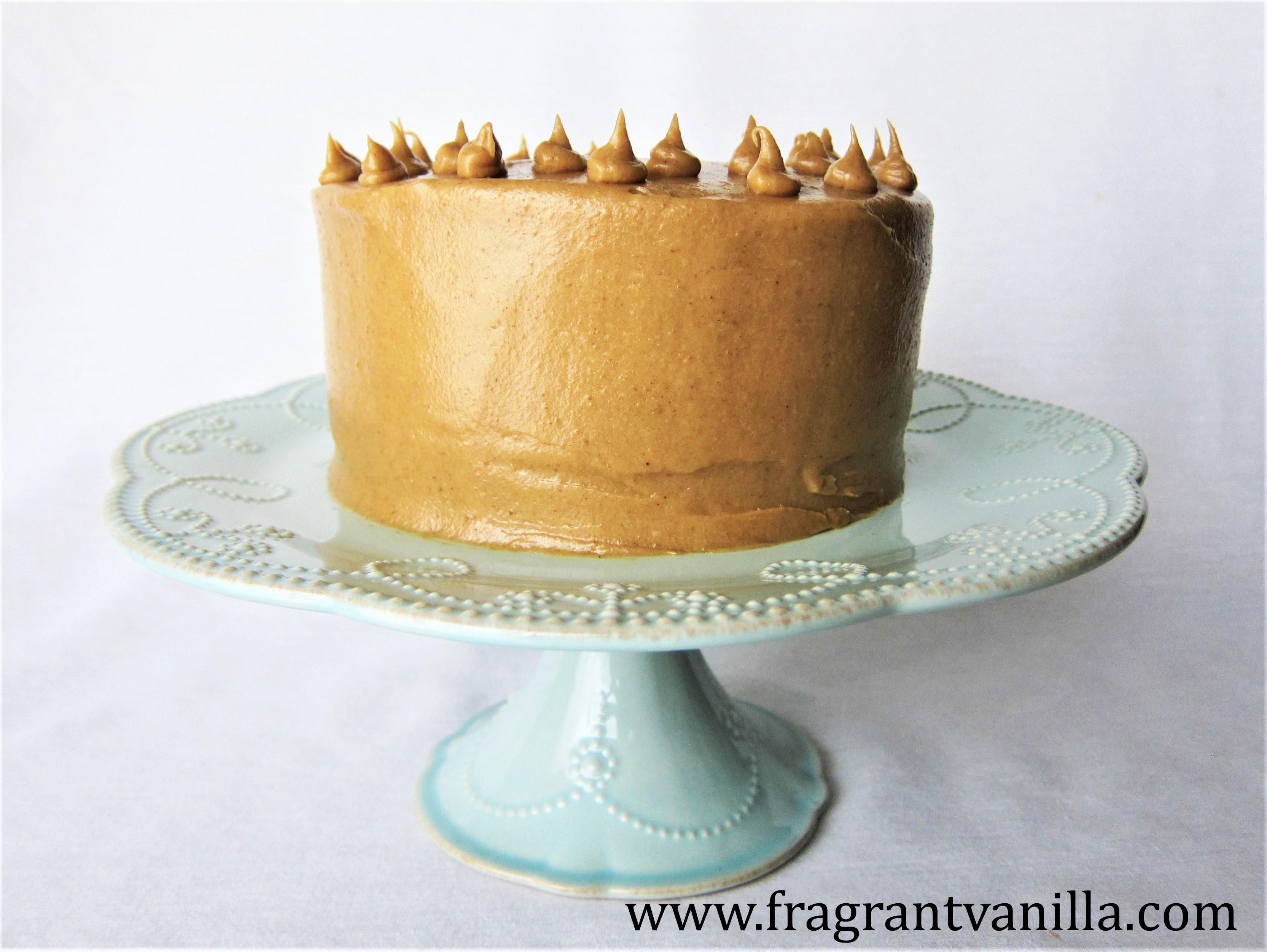 Vegan Sweet Potato Bourbon Caramel Cake