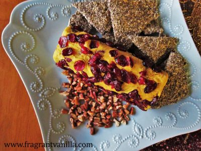 Vegan Pumpkin Cranberry Chevre