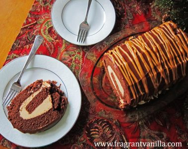 Vegan Dark Chocolate Peanut Butter Cake Roll