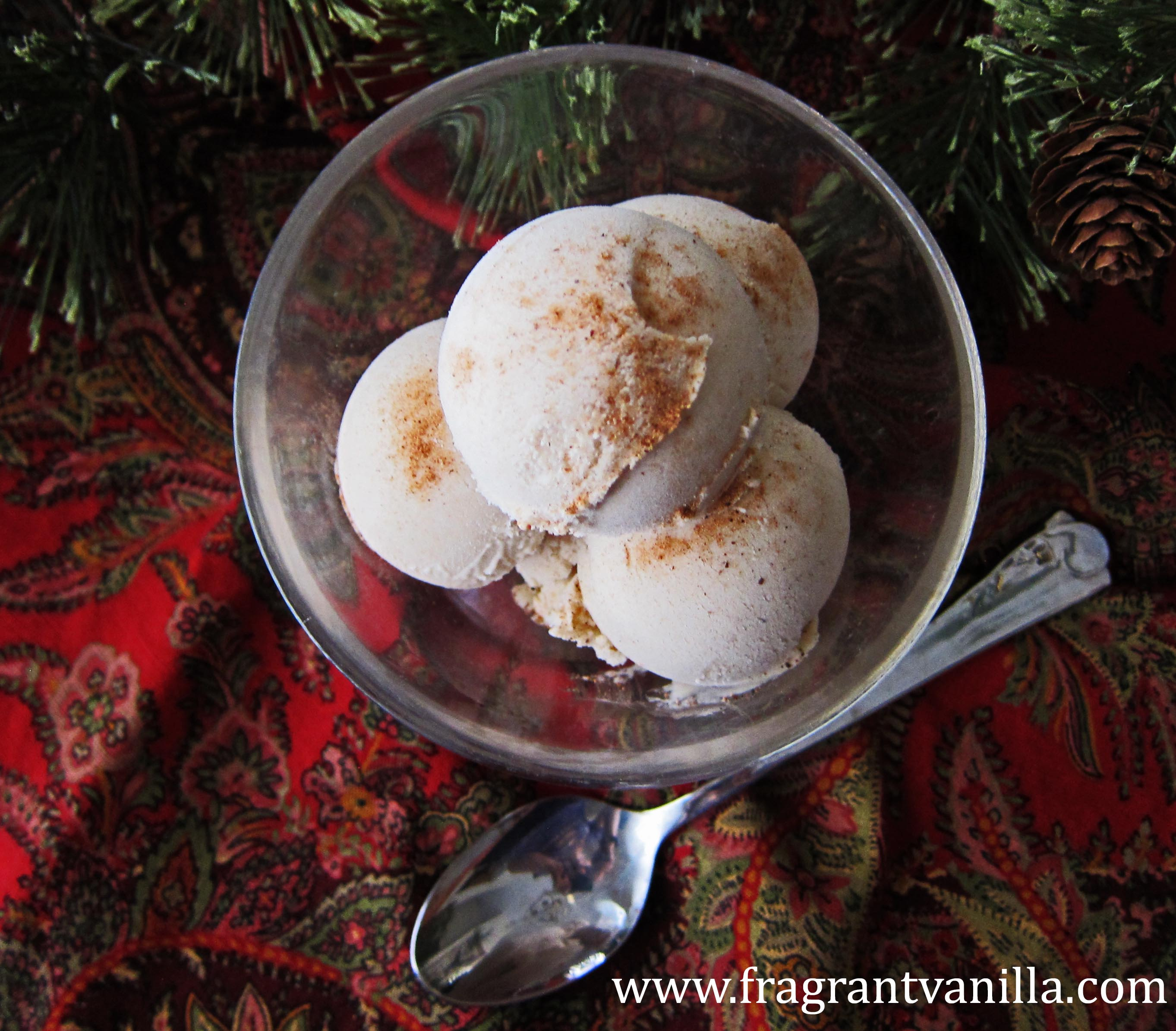 Vegan Eggnogg Ice Cream