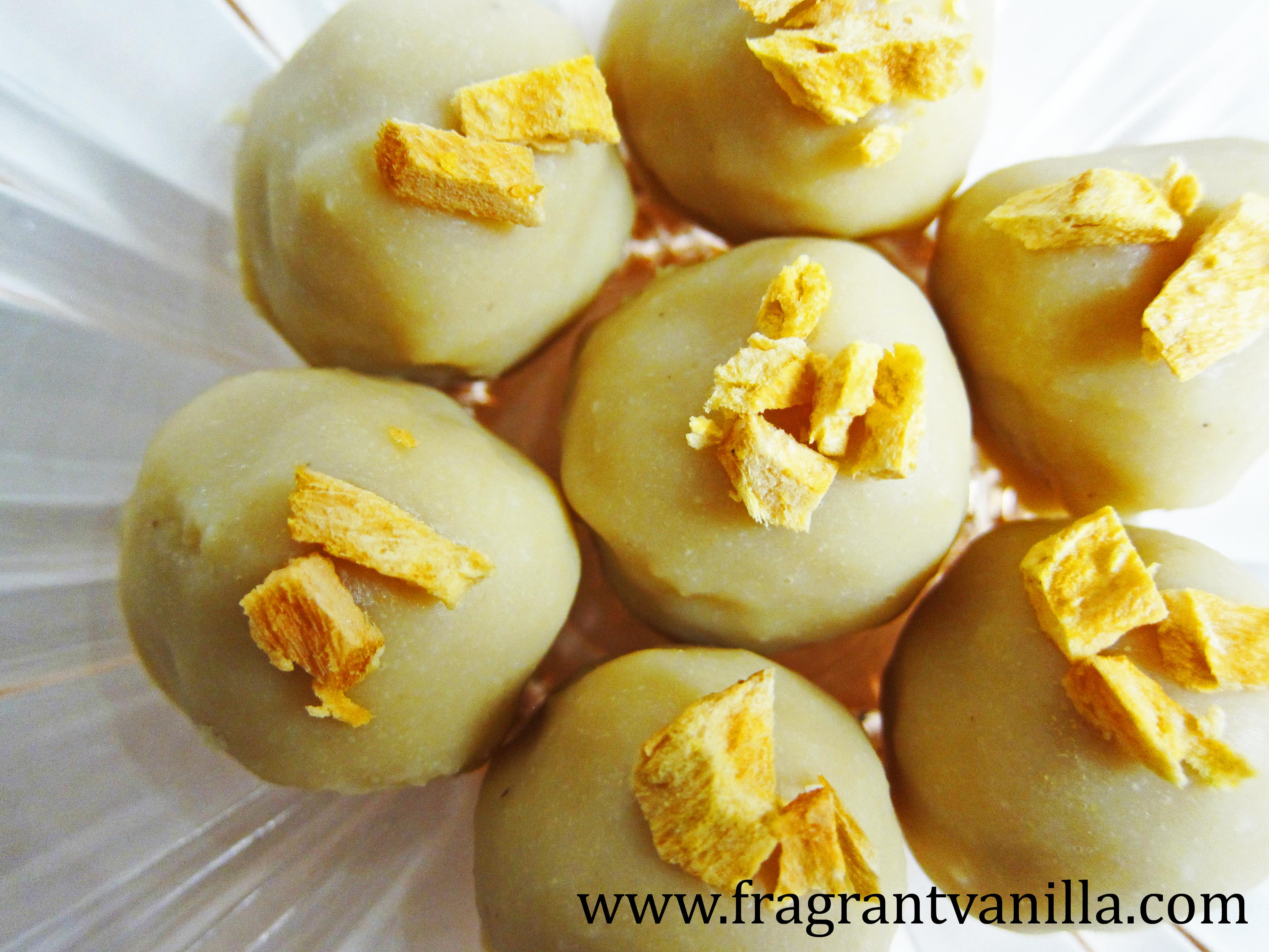 Vegan Mango Pineapple White Chocolates