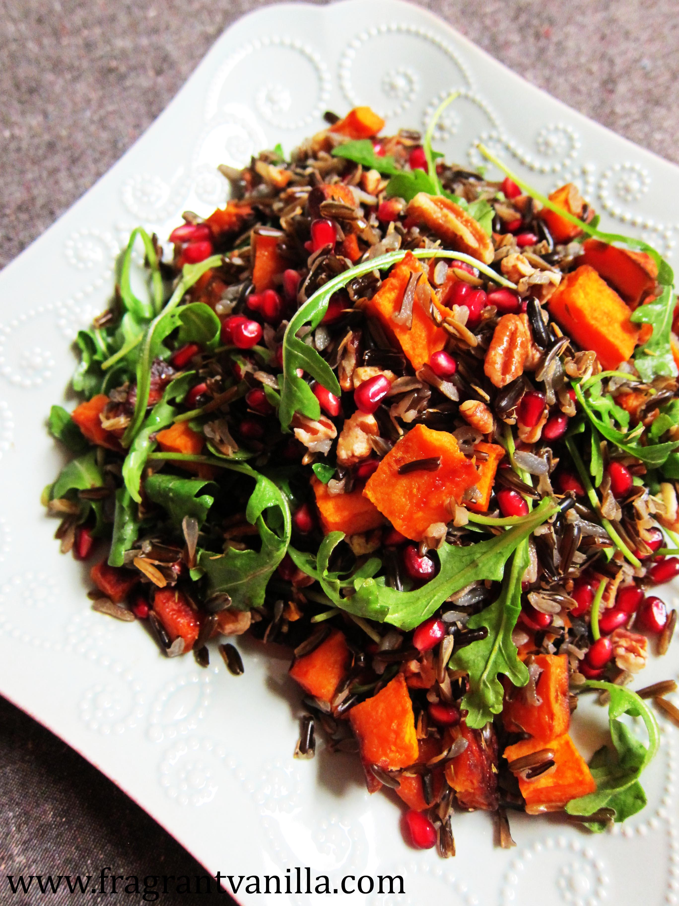 Roasted Sweet Potato Wild Rice Salad