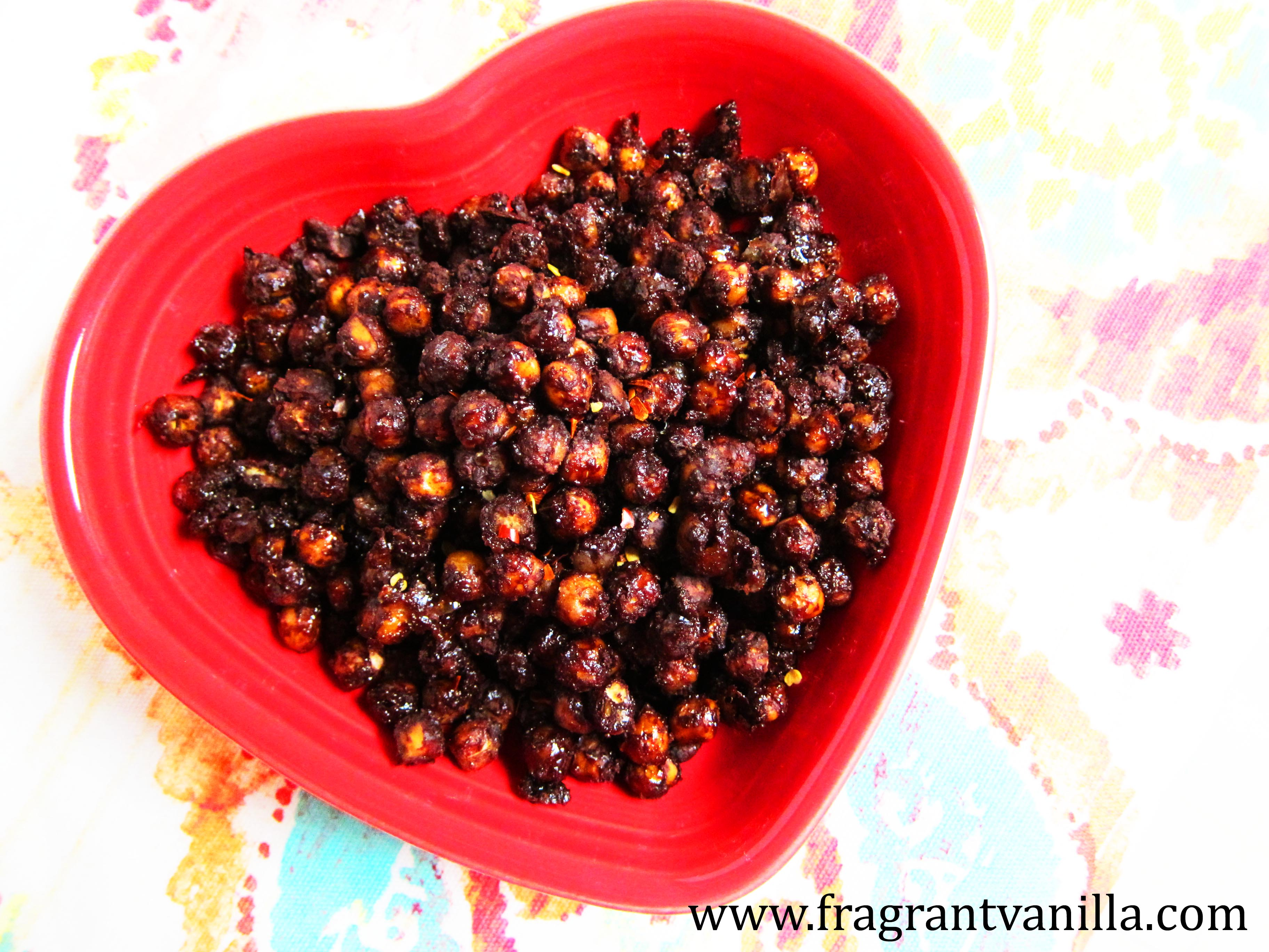 Mexican Chocolate Roasted Chickpeas