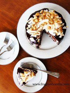 Chocolate Macadamia Coconut Cake 3
