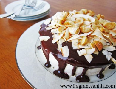 Chocolate Macadamia Coconut Cake 4