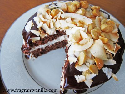 Chocolate Macadamia Coconut Cake