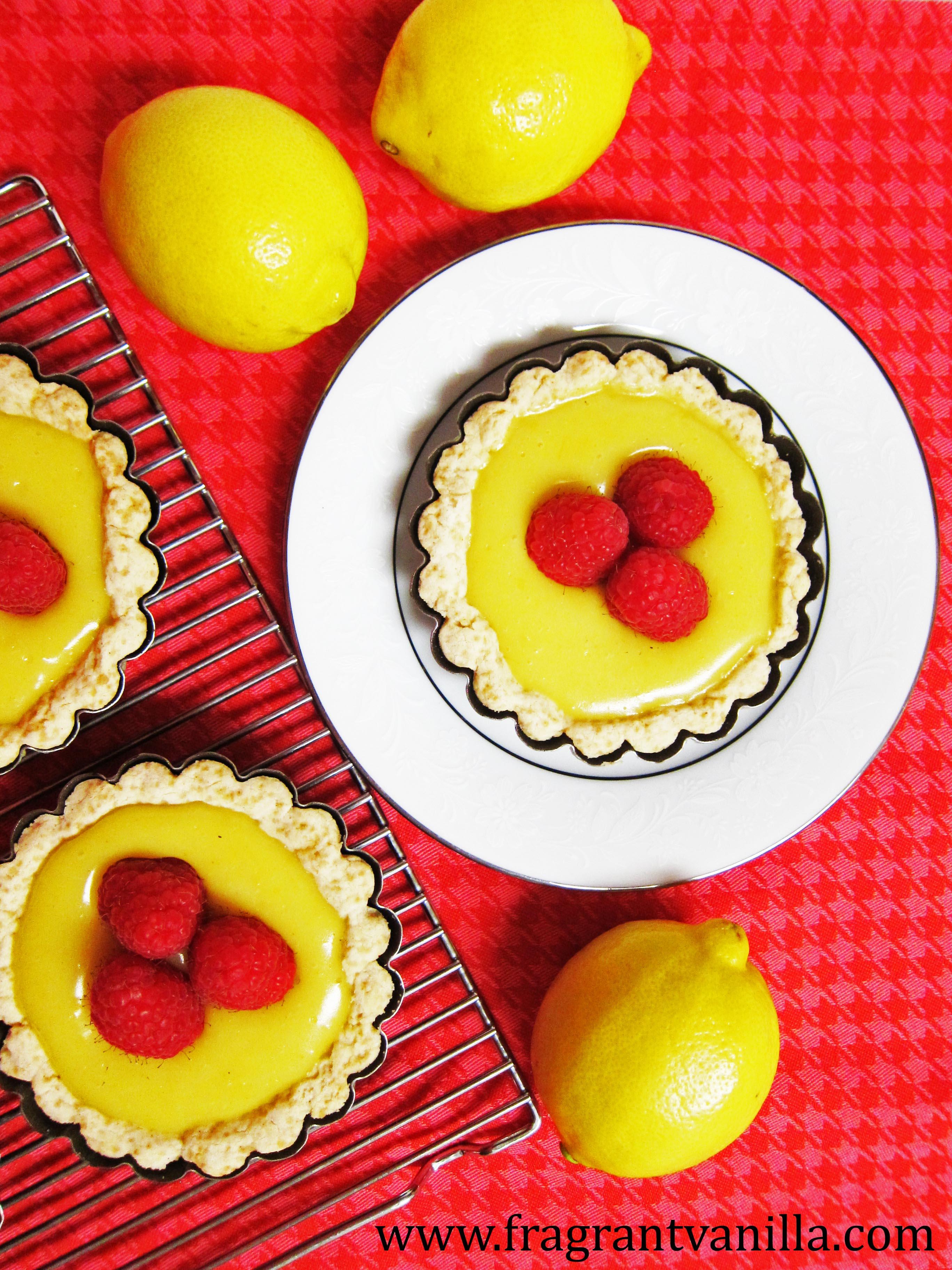Vegan Mini Lemon Tarts