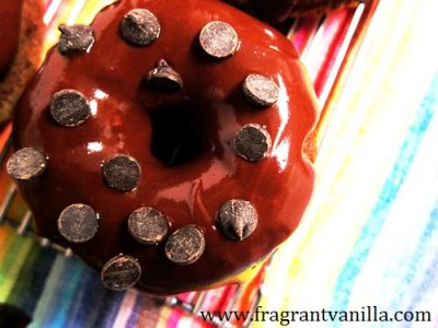 Peanut Butter Banana Chocolate Chip Doughnuts