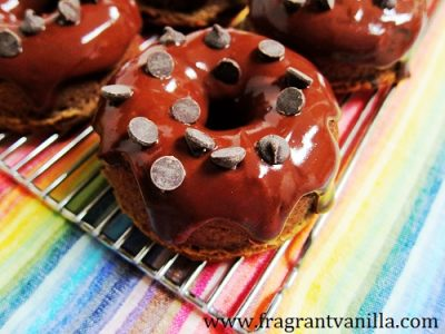 Peanut Butter Banana Chocolate Chip Doughnuts 1