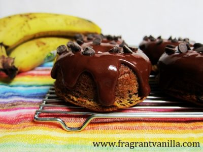 Peanut Butter Banana Chocolate Chip Doughnuts 2