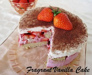 Raw Strawberry Tiramisu FV