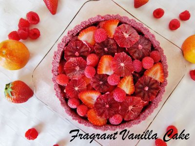 Red Berry Orange Love Tart FV