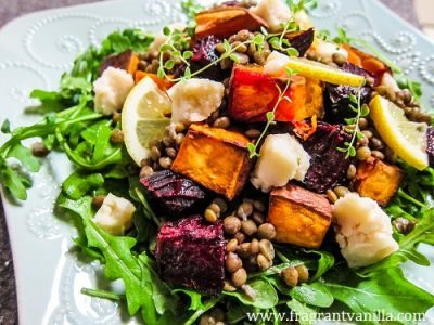 Roasted Beet, Sweet Potato and Lentil Salad 1
