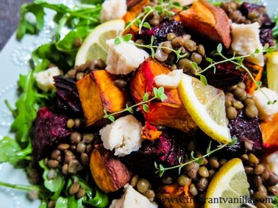 Roasted Beet, Sweet Potato and Lentil Salad 2