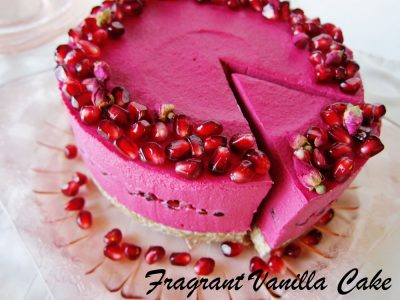 Rose Pomegranate Cheesecake FV
