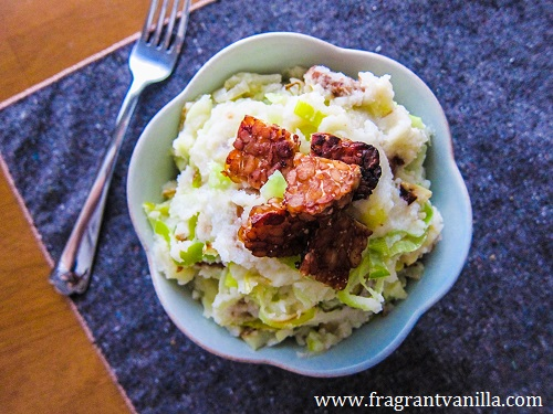 Vegan Colcannon with Tempeh Bacon