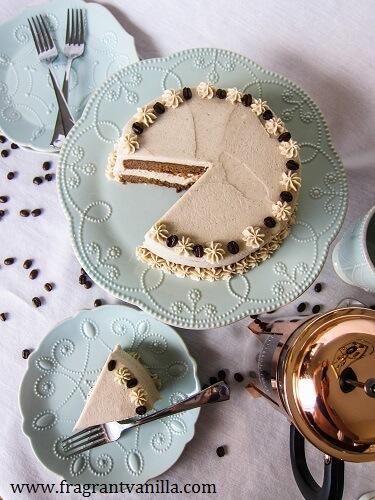 Vegan Irish Coffee Layer Cake