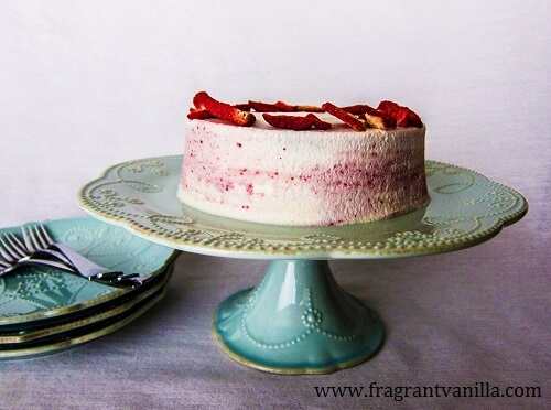 Vegan Strawberries and Cream Layer Cake
