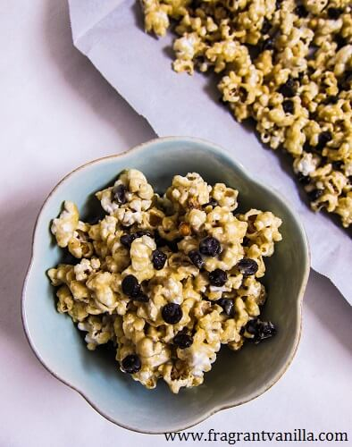 Vegan Cookie Dough Popcorn