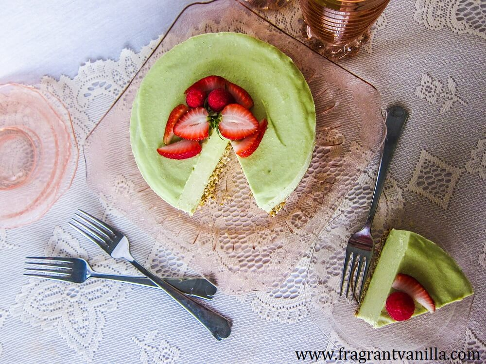 Vegan Key Lime Cheesecake