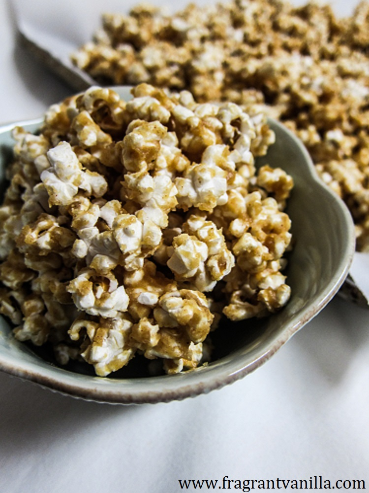 Vegan Peanut Butter Miso Caramel Corn