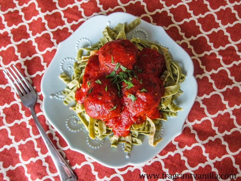 Vegan Italian Lentil Walnut Meatballs