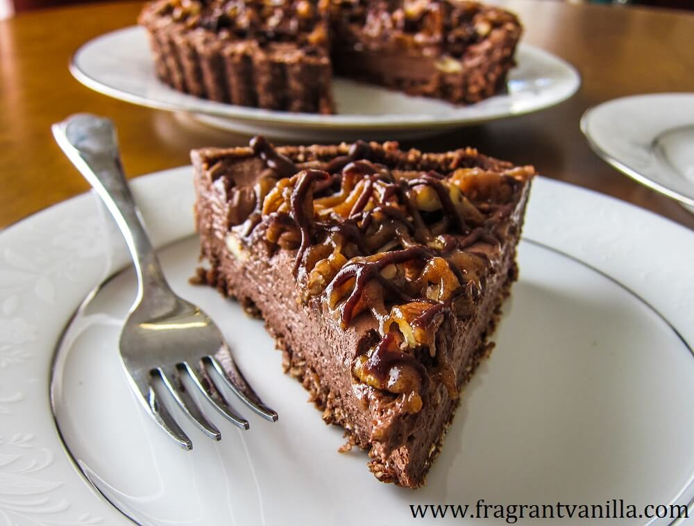 Vegan Turtle Chocolate Mousse Tart