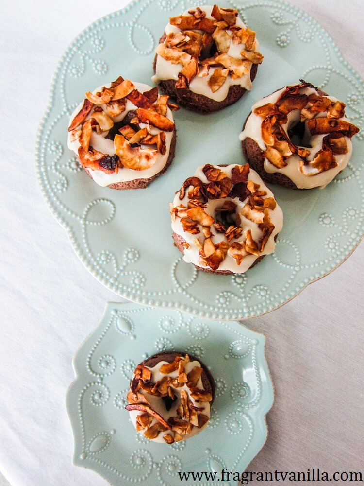 Vegan Maple Glazed Bacon Doughnuts
