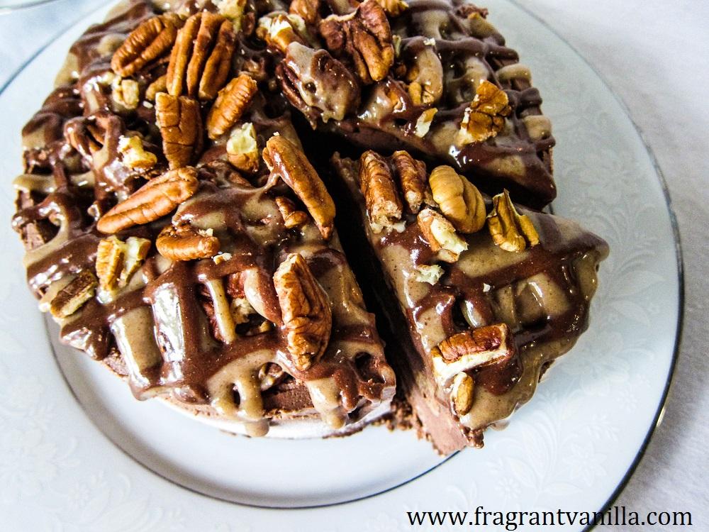 Vegan Turtle Ice Cream Cake