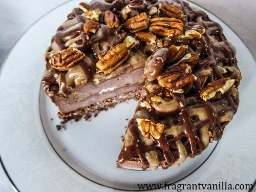 Vegan Turtle Ice Cream Cake | Fragrant Vanilla Cake