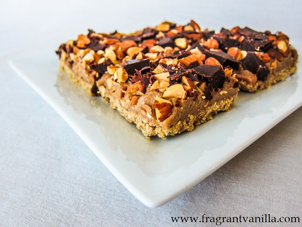 Vegan Almond Caramel Bars