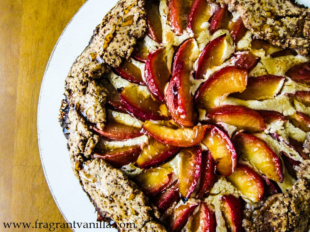 Vegan Cream Cheese Plum Galette