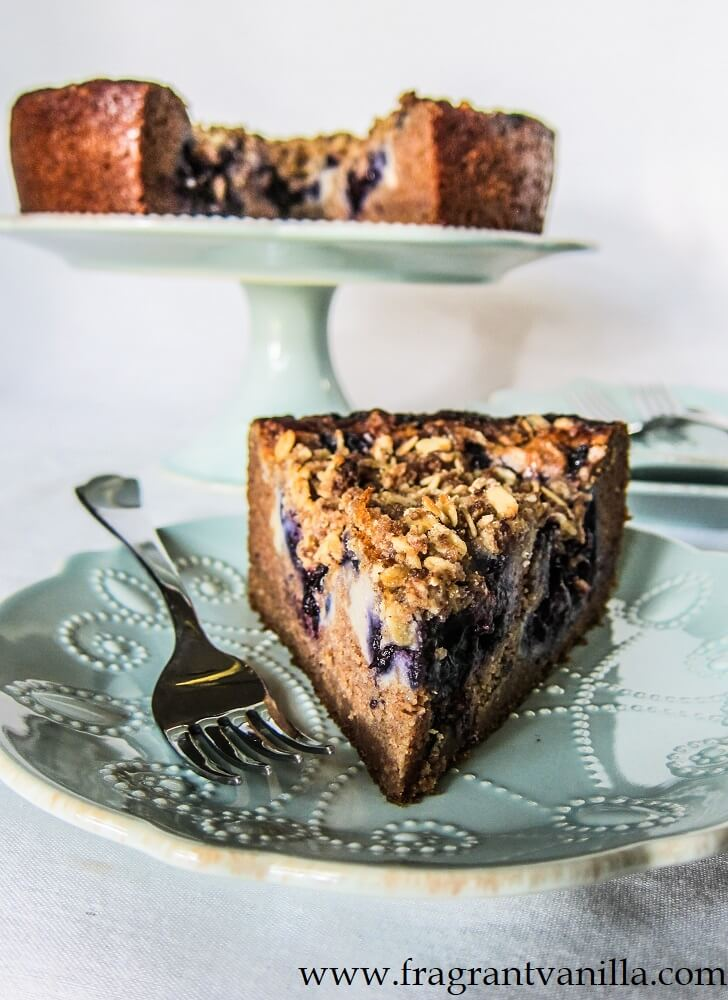Vegan Blueberry Cream Cheese Coffeecake