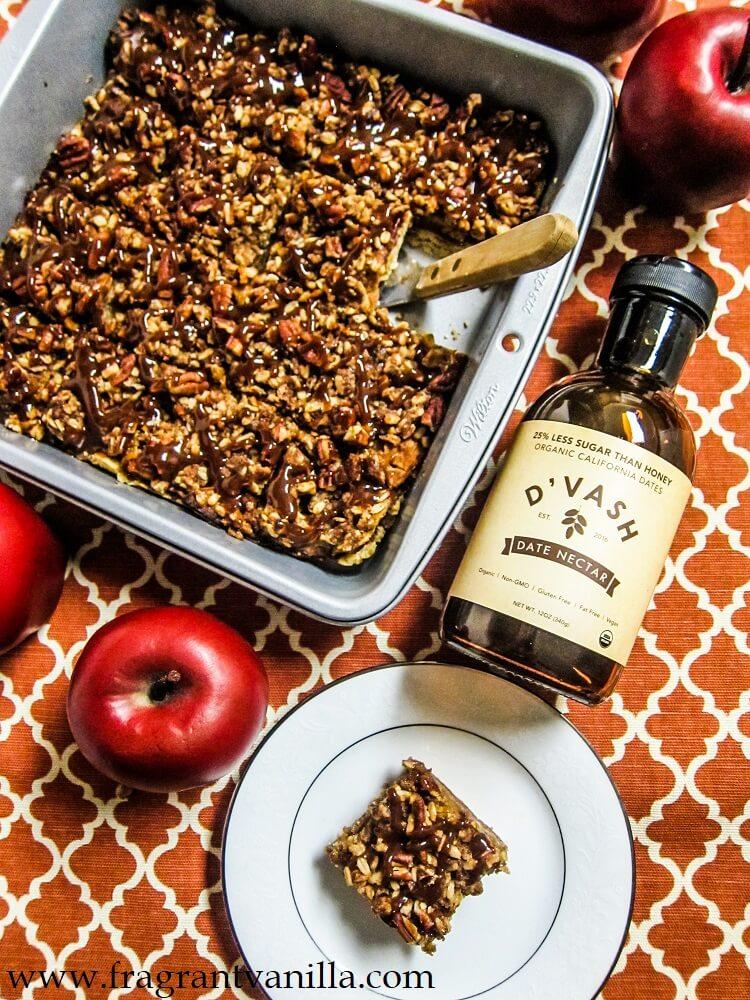 Vegan Caramel Apple Pie Bars