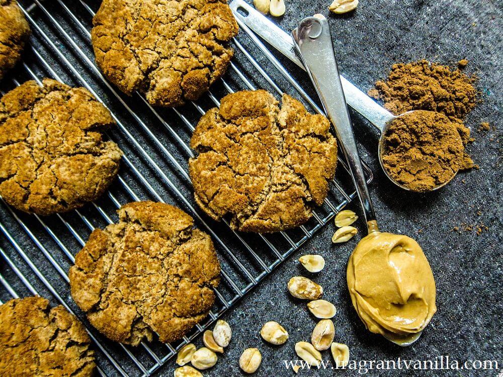 Vegan 5 Spice Peanut Butter Cookies