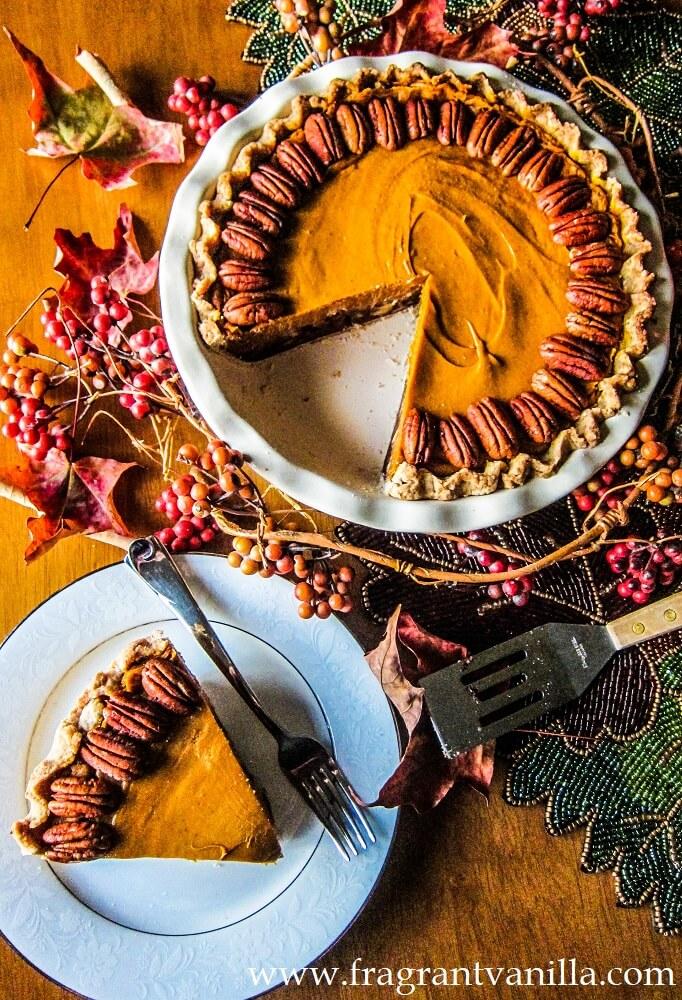 Vegan Sweet Potato Pecan Pie
