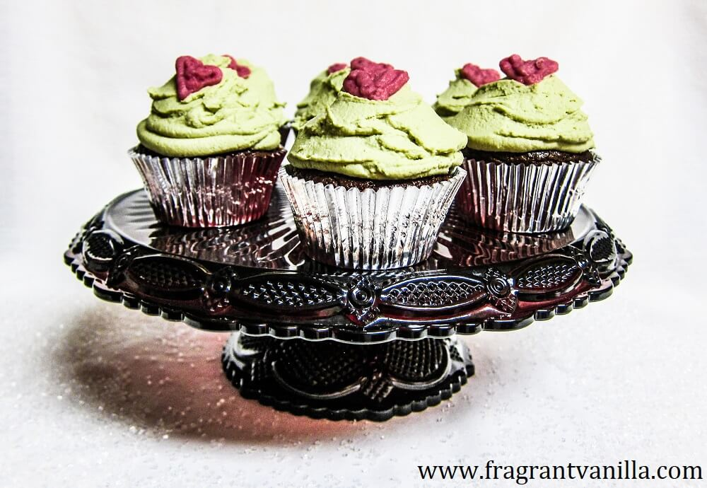 Vegan Grinch Cupcakes
