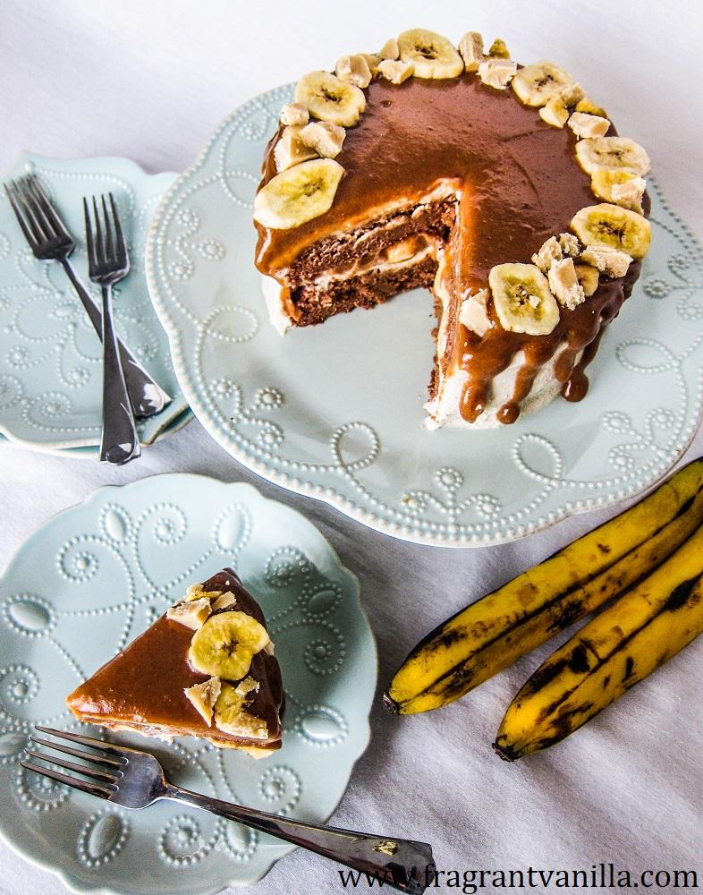 VeganBanana's Foster Cake