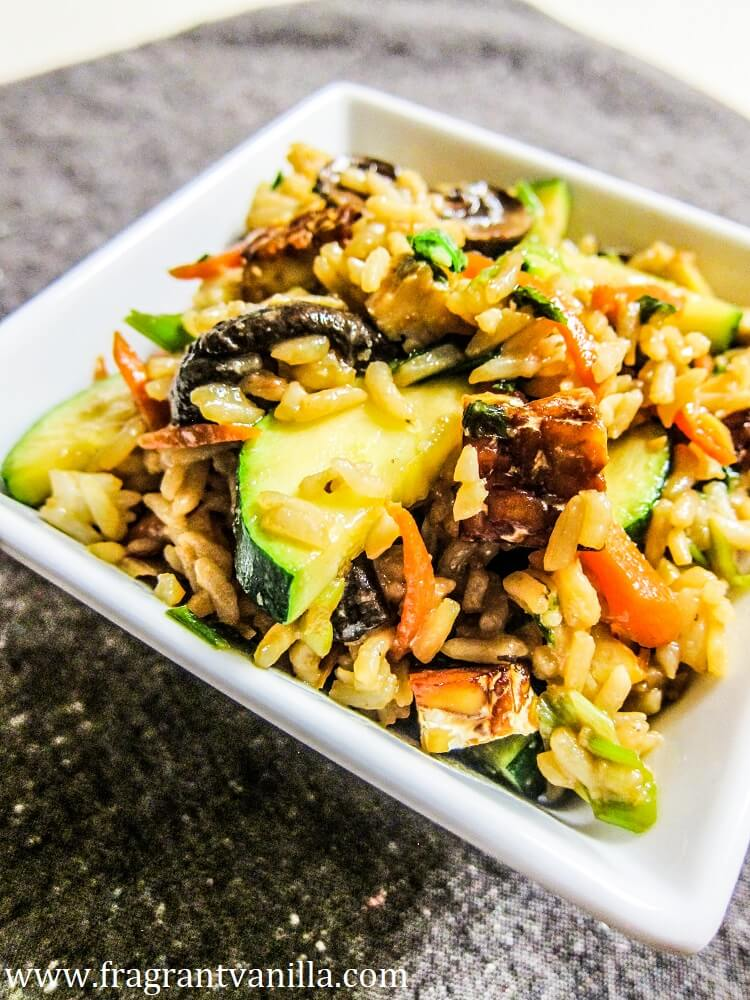 Veggie Filled Tempeh Fried Rice