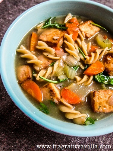 Tofu Vegetable Noodle Soup