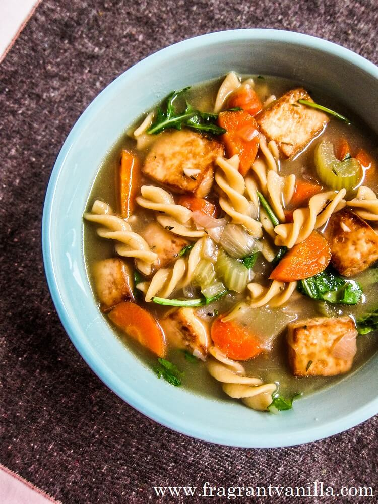 Tofu Vegetable Noodle Soup