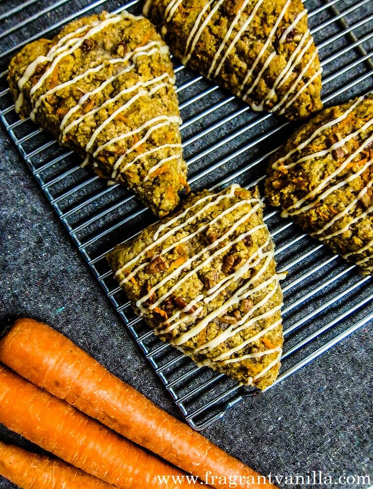 Vegan Carrot Cake Scones