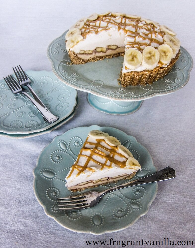 Vegan Peanut Butter Banana Cream Pie