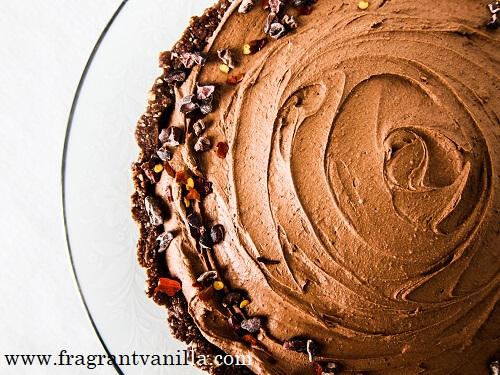 Vegan Chocolate Chili Mousse Tart Fragrant Vanilla Cake
