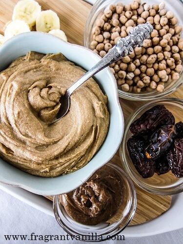 Salted Caramel Dessert Hummus | Fragrant Vanilla Cake