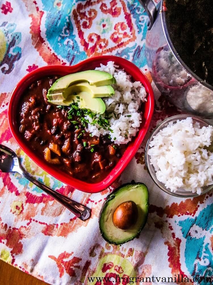 Vegan Chili Mole with Rice